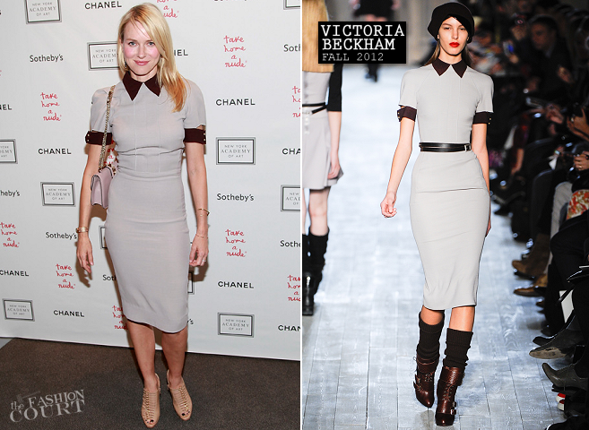 Naomi Watts in Victoria Beckham | 2012 Take Home a Nude Benefit Art Auction