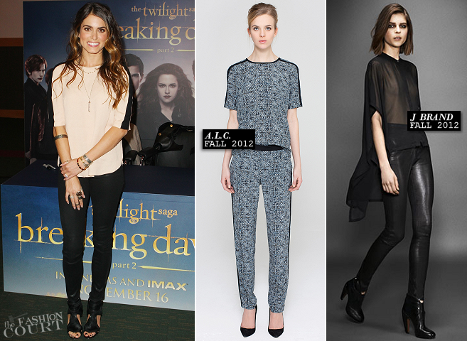Nikki Reed in A.L.C. & J Brand | 'The Twilight Saga: Breaking Dawn - Part 2' Dublin Fan Event
