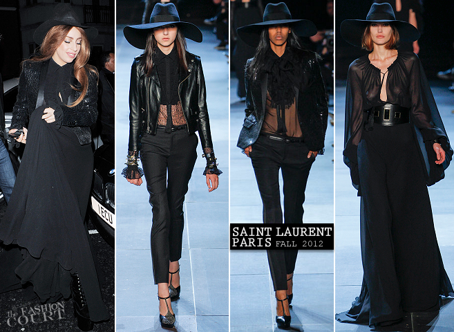 Lady Gaga Wears the First Look from Saint Laurent Paris in London!