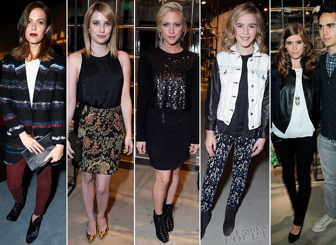 Mandy Moore, Kiernan Shipka, Brittany Snow, Emma Roberts & Kate Mara | Rag & Bone LA Flagship Store Opening