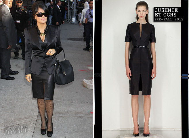 Salma Hayek in Cushnie et Ochs | 'Late Show with David Letterman'