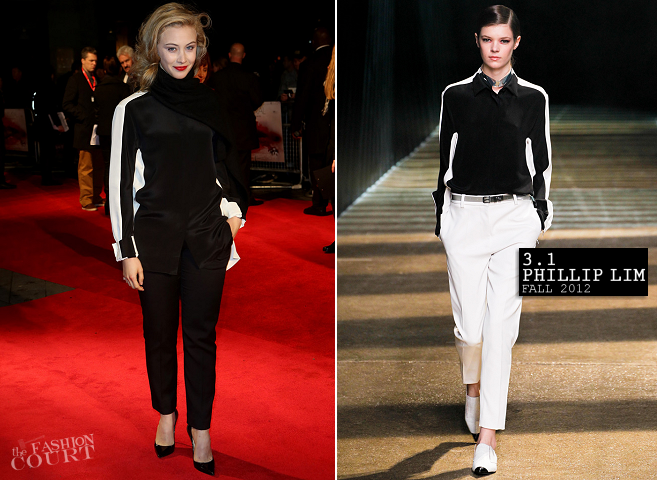 Sarah Gadon in 3.1 Phillip Lim | 'Antiviral' Premiere: 2012 BFI London Film Festival