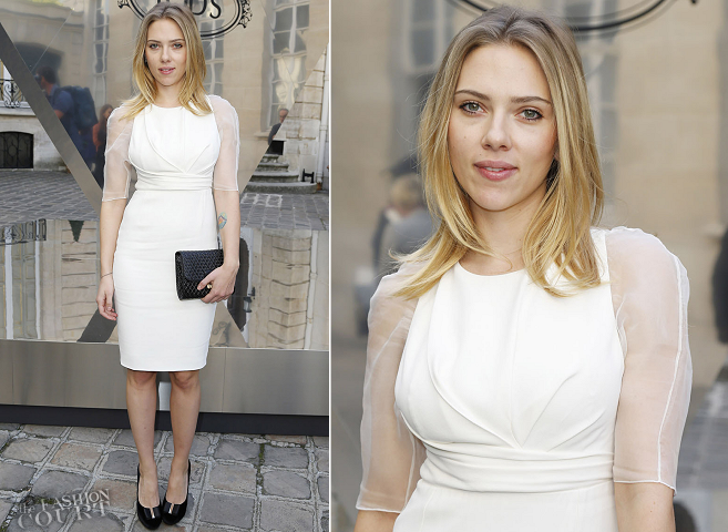 Scarlett Johansson in Christian Dior | Paris Fashion Week: Tod's Signature Gala Event