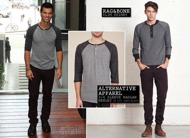 Taylor Lautner in Alternative Apparel and Rag & Bone | 'The Twilight Saga: Breaking Dawn - Part 2' Rio de Janeiro Photocall