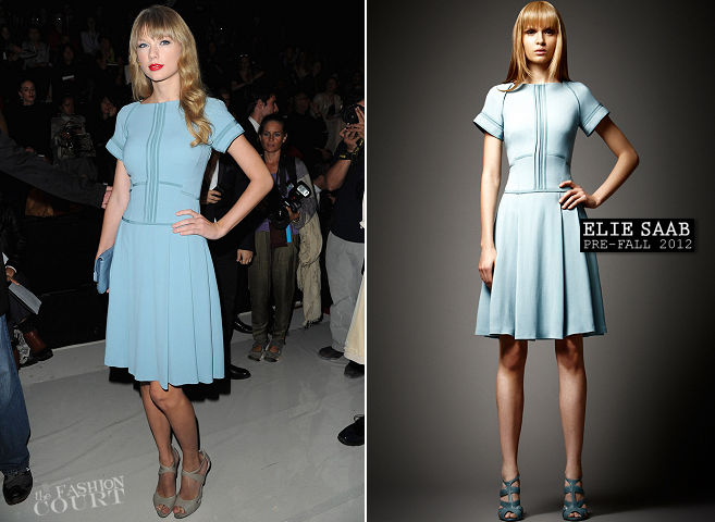 Taylor Swift in Elie Saab | Paris Fashion Week: Spring 2013 - Elie Saab