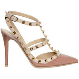 Valentino Fall 2010 T-Strap Rock Stud Pumps