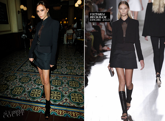 Victoria Beckham in Victoria Beckham Collection | CFDA/Vogue Fashion Fund Event Dinner 2012