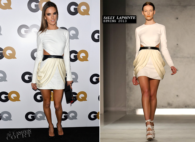 Alessandra Ambrosio in Sally LaPointe | GQ Men of the Year Party 2012
