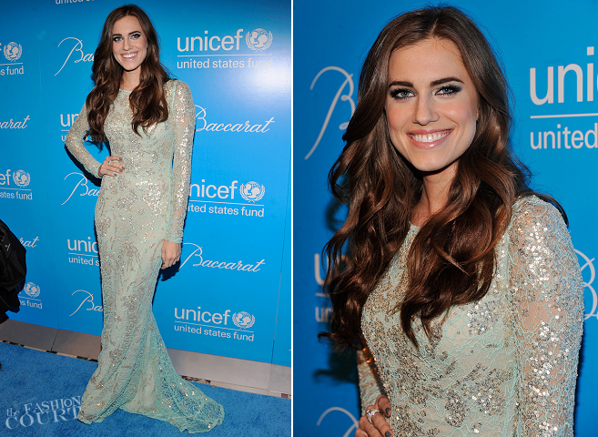 Allison Williams in Naeem Khan | UNICEF Snowflake Ball 2012