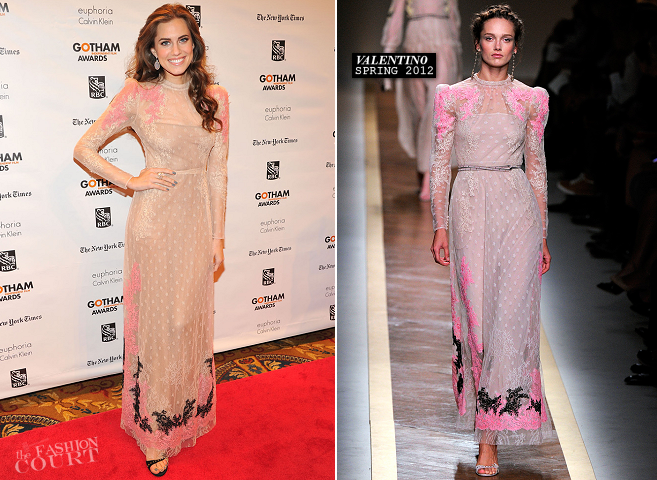 Allison Williams in Valentino | Gotham Independent Film Awards 2012