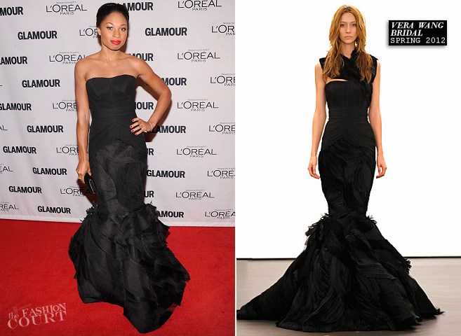 Allyson Felix in Vera Wang Bridal | Glamour Women of the Year Awards 2012