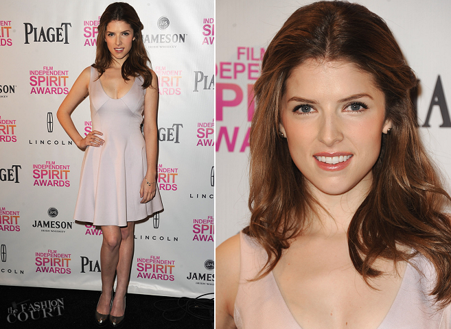 Anna Kendrick in Halston Heritage | 2013 Film Independent Spirit Awards Nominations Press Conference