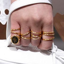 Balenciaga Spring 2013 Gold Rings