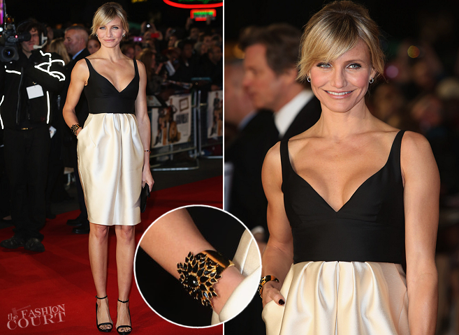 Cameron Diaz in Stella McCartney | 'Gambit' London Premiere