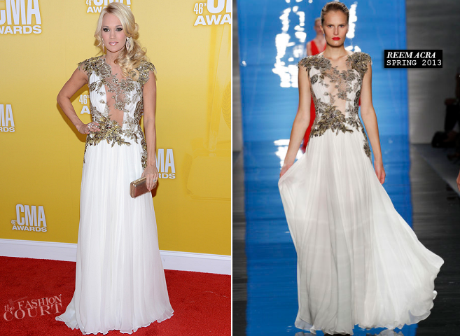 Carrie Underwood in Reem Acra | CMA Awards 2012