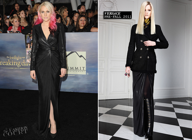 Casey LaBow in Versace | 'The Twilight Saga: Breaking Dawn - Part 2' LA Premiere