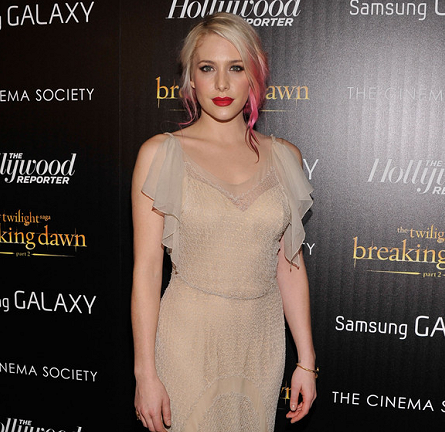 Casey Labow in Vintage | 'The Twilight Saga: Breaking Dawn - Part 2' NYC Screening