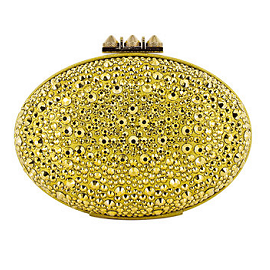 Christian Louboutin Spring 2013 Embellished Oval Clutch