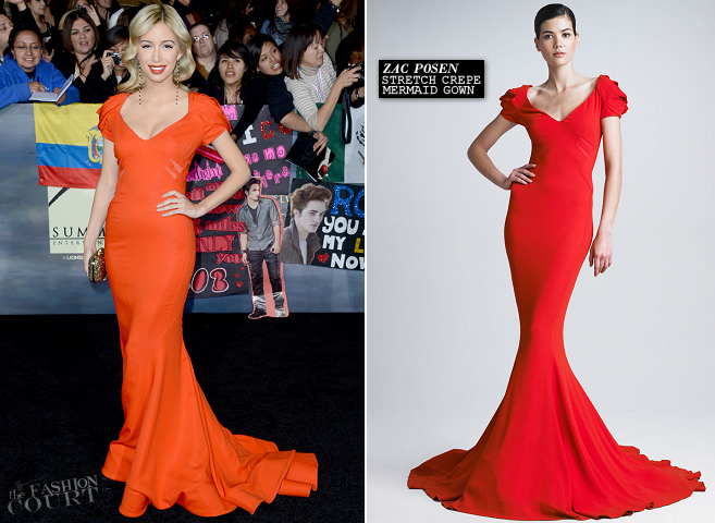 Christian Serratos in Zac Posen | 'The Twilight Saga: Breaking Dawn - Part 2' LA Premiere