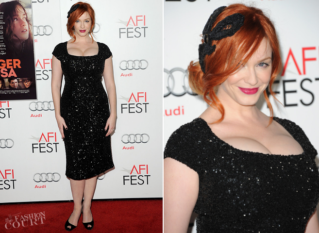 Christina Hendricks in L'Wren Scott | 'Ginger and Rosa' Special Screening: AFI FEST 2012