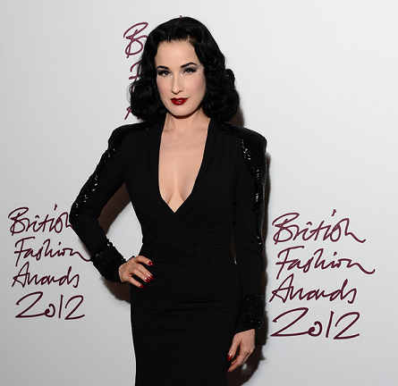Dita Von Teese in Jenny Packham | British Fashion Awards 2012