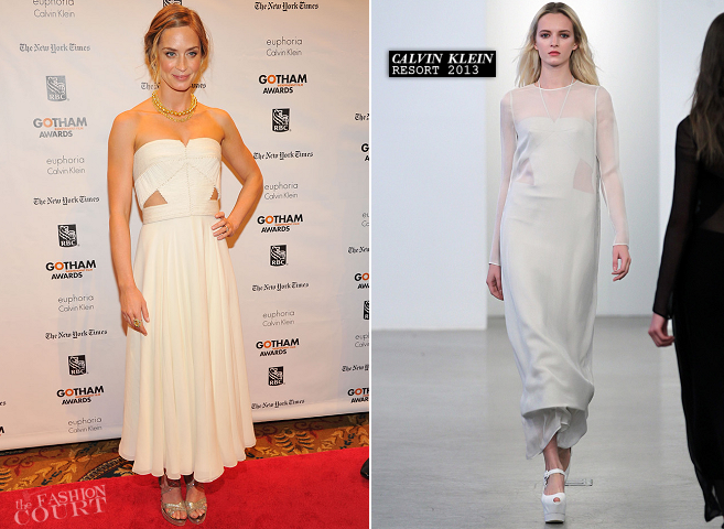 Emily Blunt in Calvin Klein | Gotham Independent Film Awards 2012
