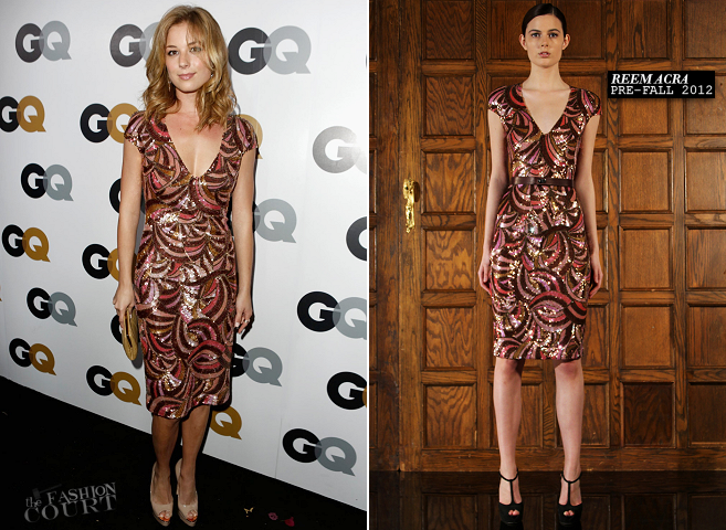 Emily VanCamp in Reem Acra | GQ Men of the Year Party 2012