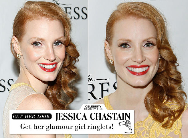 Jessica Chastain's Glamour Girl Curls for 'The Heiress' Broadway Opening Night!
