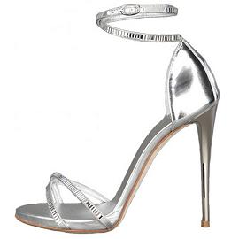 Giuseppe Zanotti Silver Metallic Sandals - Fall 2012