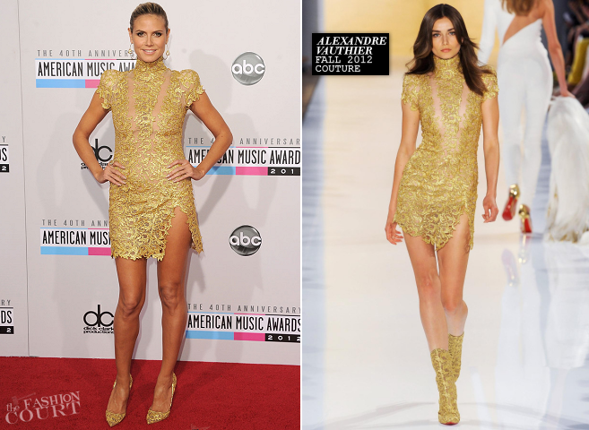 Heidi Klum in Alexandre Vauthier Couture | 2012 American Music Awards