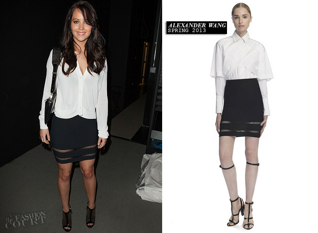 Jennifer Lawrence in Alexander Wang | 'Silver Linings Playbook' SAG-AFTRA Film Society Special Screening