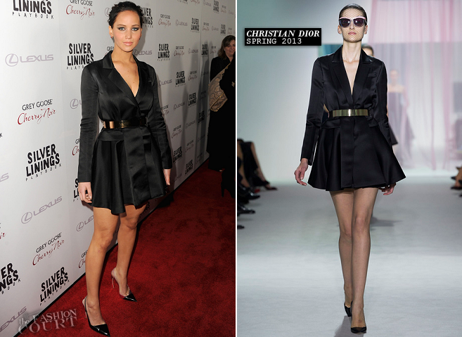 Jennifer Lawrence in Christian Dior | 'Silver Linings Playbook' LA Screening