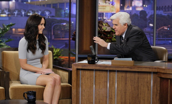 Jennifer Lawrence in T by Alexander Wang | 'The Tonight Show with Jay Leno'