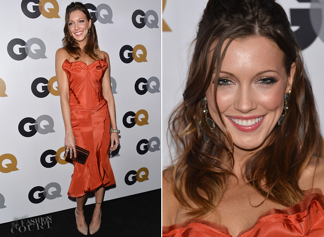 Katie Cassidy in Zac Posen | GQ Men of the Year Party 2012