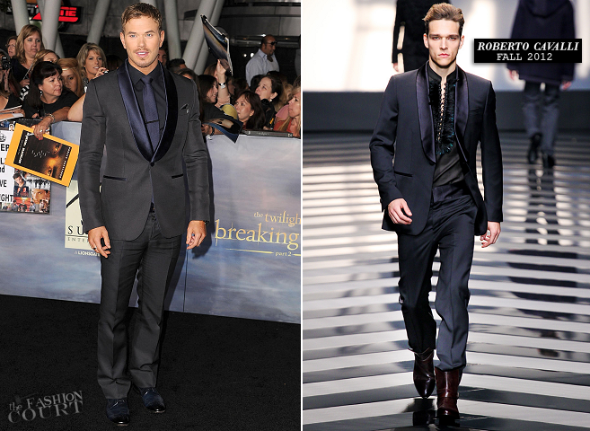Kellan Lutz in Roberto Cavalli | 'The Twilight Saga: Breaking Dawn - Part 2' LA Premiere