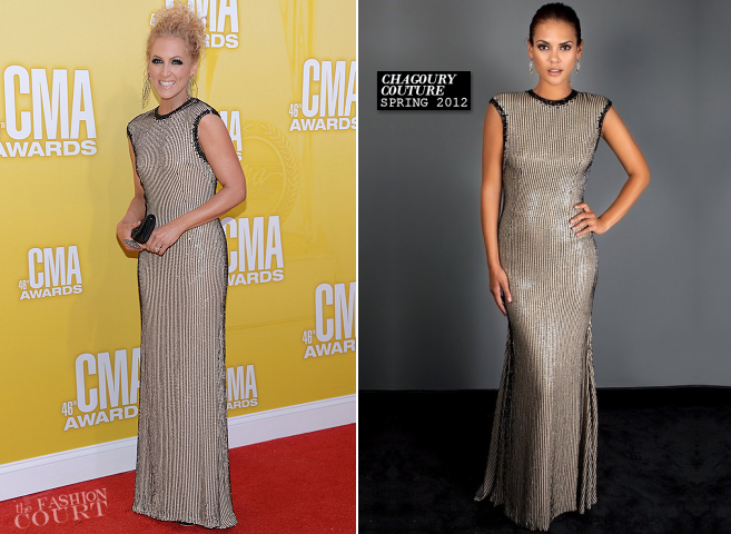 Kimberly Schlapman in Chagoury Couture | CMA Awards 2012