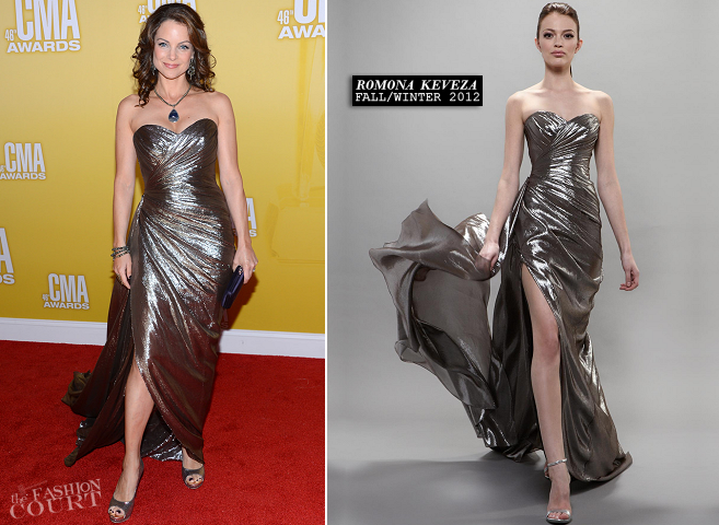 Kimberly Williams-Paisley in Romona Keveza | CMA Awards 2012