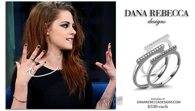 Kristen Stewart in Dana Rebecca Designs | 'Late Night with Jimmy Fallon'