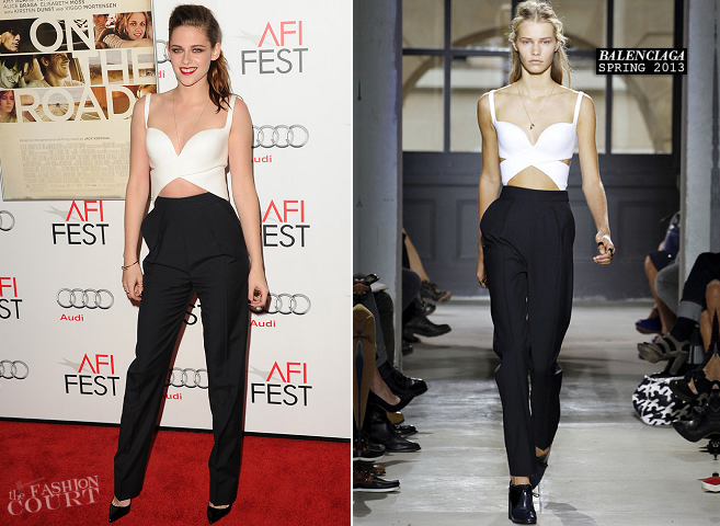 Kristen Stewart in Balenciaga | 'On The Road' Premiere: AFI FEST 2012