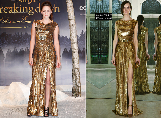 Kristen Stewart in Elie Saab | 'The Twilight Saga: Breaking Dawn - Part 2' Berlin Premiere