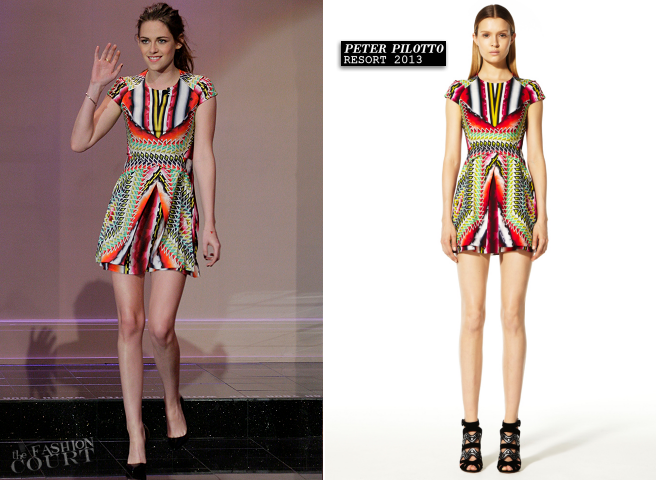 Kristen Stewart in Peter Pilotto | 'The Tonight Show with Jay Leno'