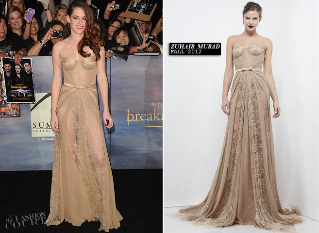 Kristen Stewart in Zuhair Murad | 'The Twilight Saga: Breaking Dawn - Part 2' LA Premiere