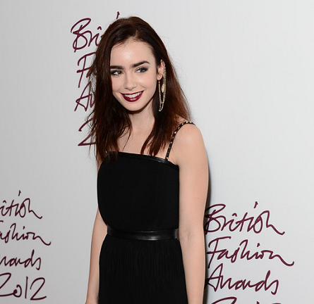 Lily Collins in Mulberry | British Fashion Awards 2012
