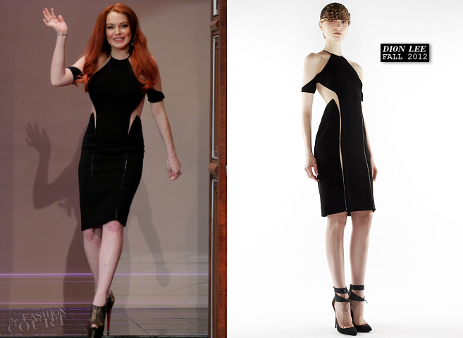 Lindsay Lohan in Dion Lee | 'The Tonight Show with Jay Leno'