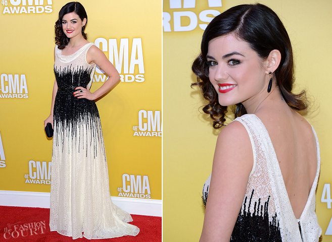 Lucy Hale in Moschino | CMA Awards 2012