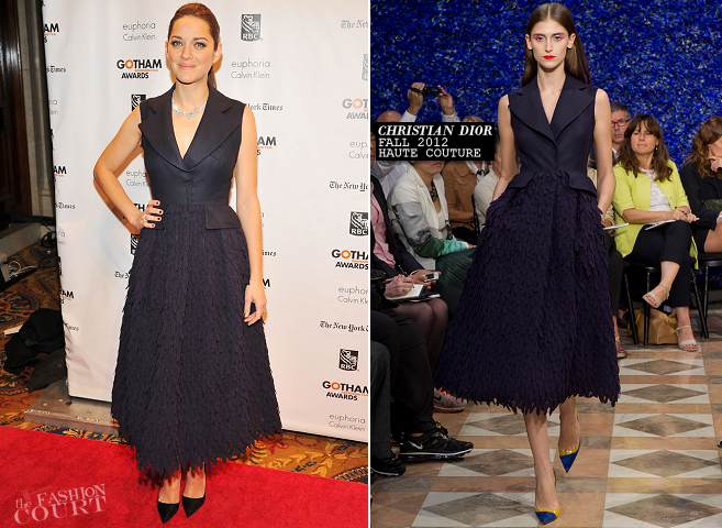 Marion Cotillard in Christian Dior Couture | Gotham Independent Film Awards 2012