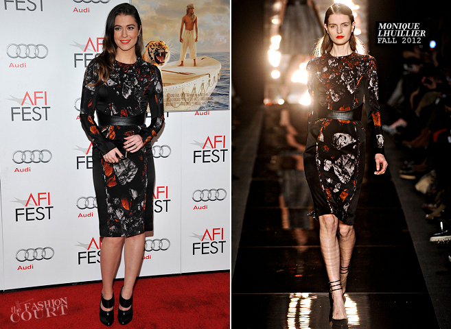 Mary Elizabeth Winstead in Monique Lhuillier | 'Life of Pi' Premiere: AFI Fest 2012