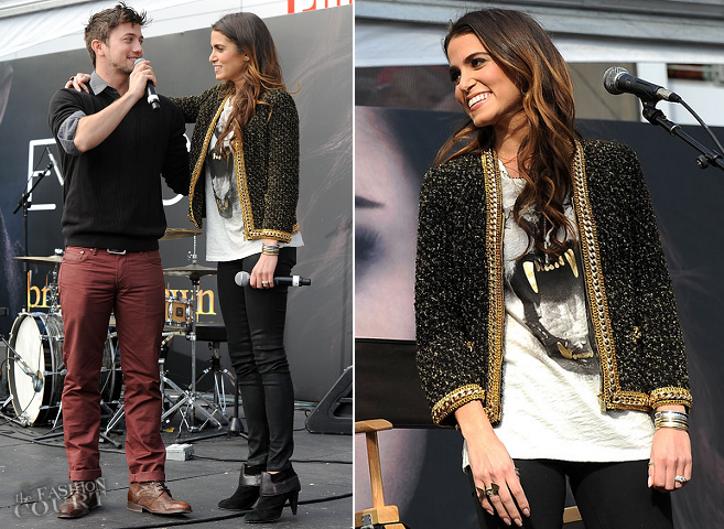 Nikki Reed in Maje & Michael Kors | 'The Twilight Saga: Breaking Dawn Part 2' Fan Camp Concert