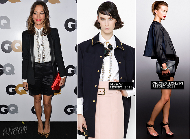 Rashida Jones in Marni, Band of Outsiders & Giorgio Armani | GQ Men of the Year Party 2012