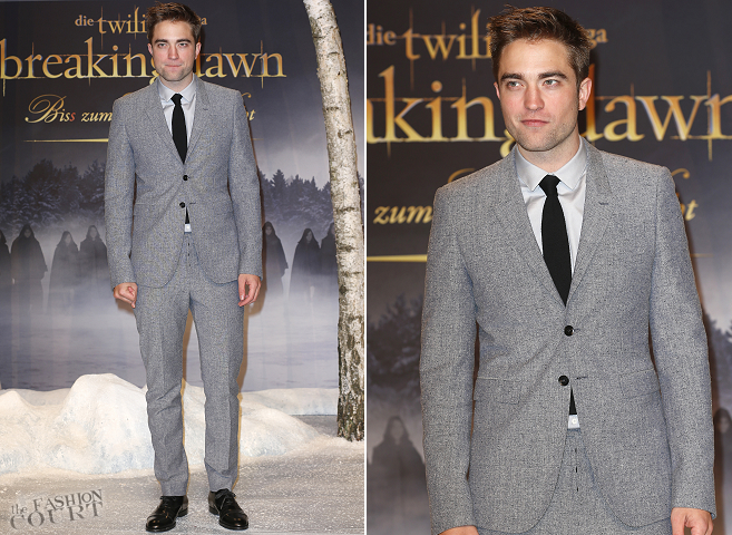 Robert Pattinson in Burberry | 'The Twilight Saga: Breaking Dawn - Part 2' Berlin Premiere